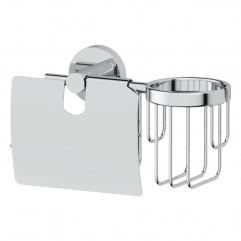 Держатель туалетной бумаги с крышкой и освежителя воздуха (хром) (ARTWELLE) HAR 051