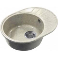 Кухонная мойка 568х437 Акватон Чезана серый шелк