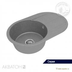 Кухонная мойка 780х500 Акватон Амира серый
