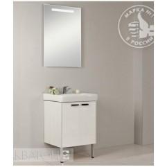 Комплект мебели для ванной Акватон Йорк 60 белый/выбеленное дерево