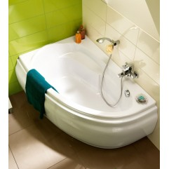 Ванна акриловая 140х90х58 ультра белая Cersanit Joanna WA-JOANNA*140-L