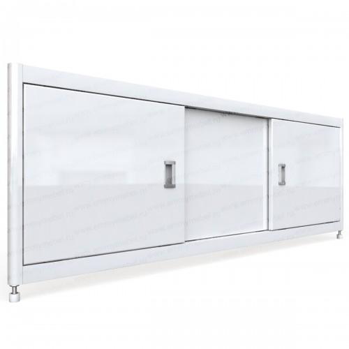 Экран под ванну раздвижной 170 см EMMY Монро белый