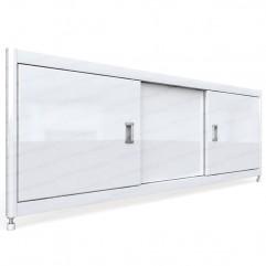 Экран под ванну раздвижной 130 см EMMY Монро белый