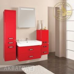 Комплект мебели для ванной Акватон Америна 70 бордо
