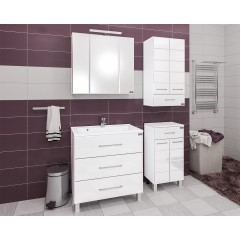 Комплект мебели Омега 90 с зеркальным шкафом Стандарт 90, со светом