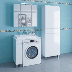 Комплект мебели напольный Марс 19 с раковиной над стиральной машиной Юпитер 80/50 левая