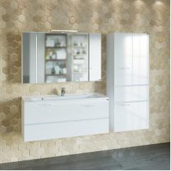 Комплект мебели для ванной Марс 120 подвесной