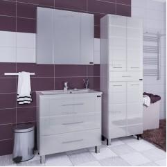 Комплект мебели Омега 90 с зеркальным шкафом Стандарт 90