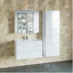 Комплект мебели для ванной Марс 80 подвесной с умывальником Elen 80