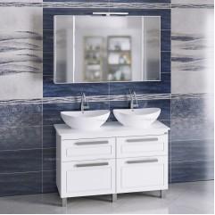 Комплект мебели для ванной Нептун 120 напольный со столешницей