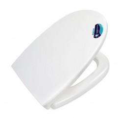 Крышка-сидение для унитаза Santek Ирис с антибактериальным покрытием, белый