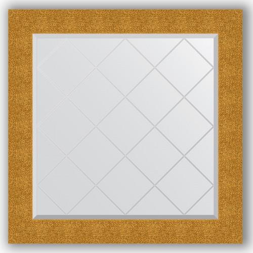 Зеркало с гравировкой в багетной раме - чеканка золотая 90 mm BY 4323