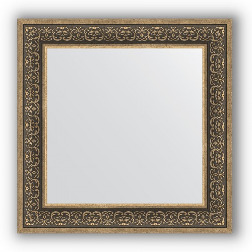 Зеркало в багетной раме - вензель серебряный 101 mm BY 3160