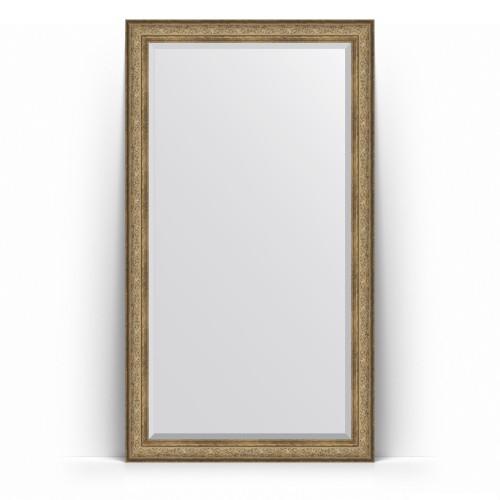 Зеркало напольное с фацетом в багетной раме - виньетка античная бронза 109 mm BY 6175