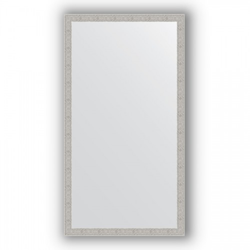 Зеркало в багетной раме - волна алюминий 46 mm BY 3294
