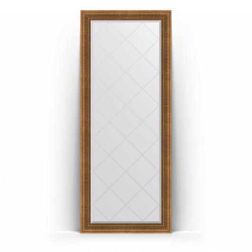 Зеркало напольное с гравировкой в багетной раме - бронзовый акведук 93 mm BY 6322