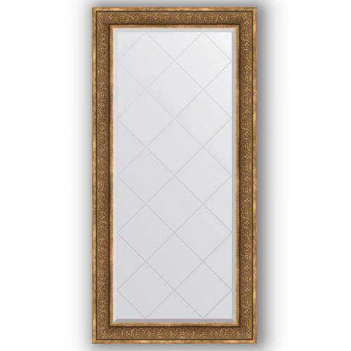 Зеркало с гравировкой в багетной раме - вензель бронзовый 101 mm BY 4292