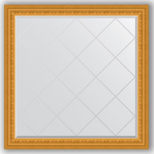 Зеркало с гравировкой в багетной раме - сусальное золото 80 mm BY 4439