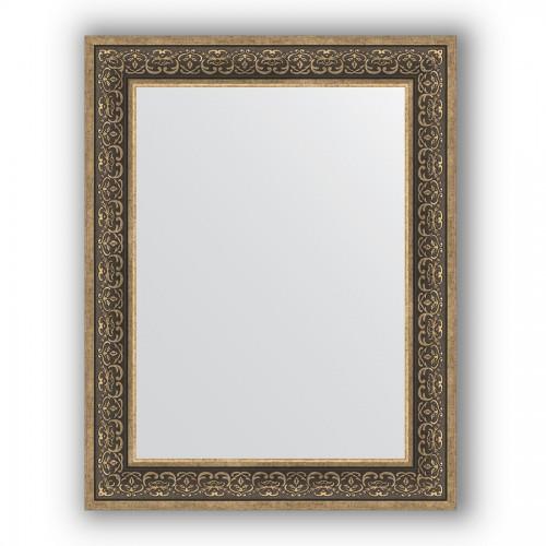 Зеркало в багетной раме - вензель серебряный 101 mm BY 3192
