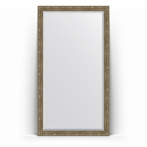 Зеркало напольное с фацетом в багетной раме - виньетка античная латунь 85 mm BY 6155