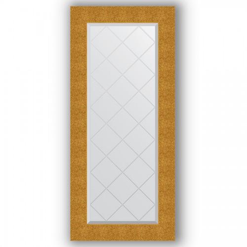 Зеркало с гравировкой в багетной раме - чеканка золотая 90 mm BY 4065