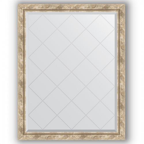 Зеркало с гравировкой в багетной раме - прованс с плетением 70 mm BY 4349