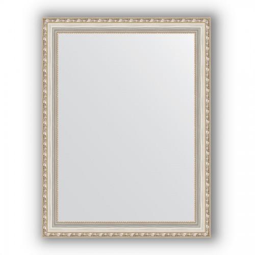 Зеркало в багетной раме - версаль серебро 64 mm BY 3174