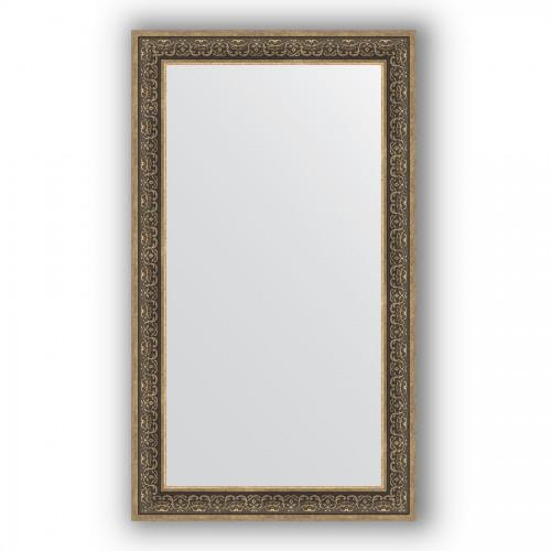 Зеркало в багетной раме - вензель серебряный 101 mm BY 3320