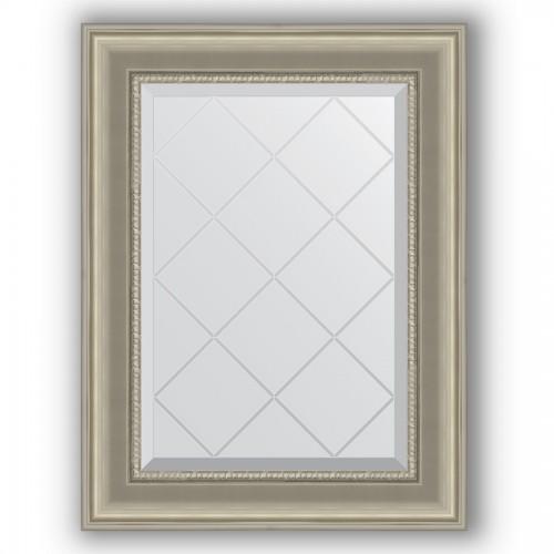 Зеркало с гравировкой в багетной раме - хамелеон 88 mm BY 4020