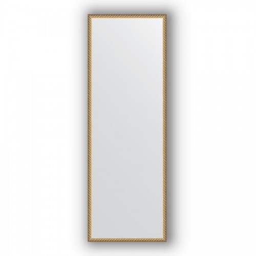 Зеркало в багетной раме - витая латунь 26 mm BY 0720