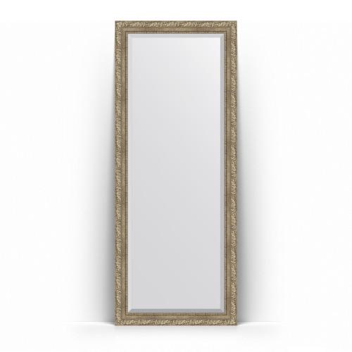 Зеркало напольное с фацетом в багетной раме - виньетка античное серебро 85 mm BY 6113