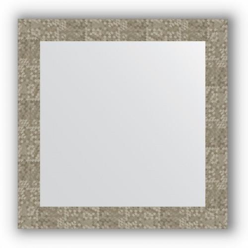 Зеркало в багетной раме - соты титан 70 mm BY 3148