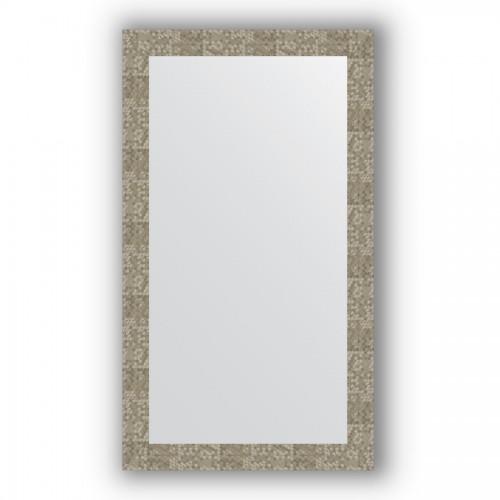 Зеркало в багетной раме - соты титан 70 mm BY 3212