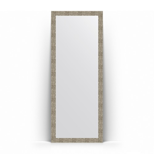 Зеркало напольное в багетной раме - соты титан 70 mm BY 6006