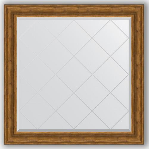 Зеркало с гравировкой в багетной раме - травленая бронза 99 mm BY 4462