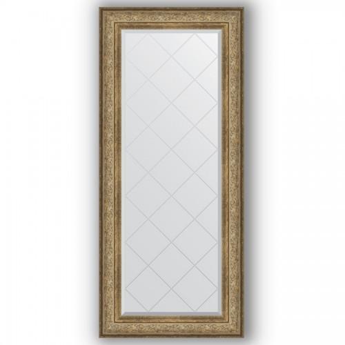 Зеркало с гравировкой в багетной раме - виньетка античная бронза 109 mm BY 4167