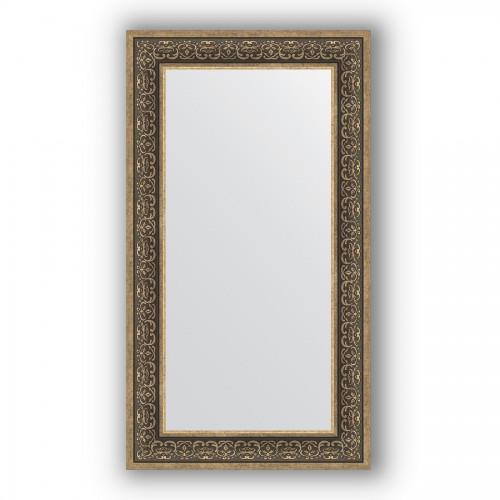 Зеркало в багетной раме - вензель серебряный 101 mm BY 3096