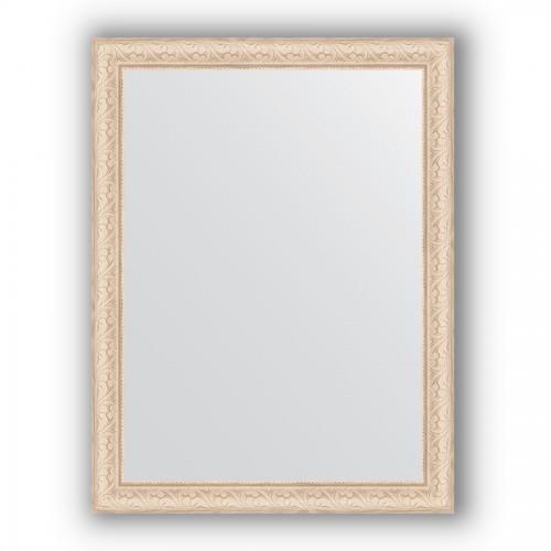 Зеркало в багетной раме - беленый дуб 57 mm BY 1011