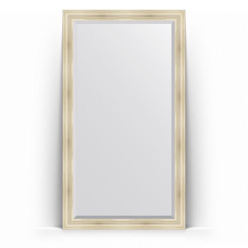 Зеркало напольное с фацетом в багетной раме - травленое серебро 99 mm BY 6168