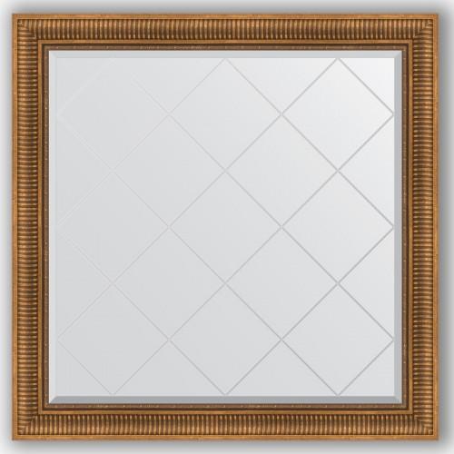 Зеркало с гравировкой в багетной раме - бронзовый акведук 93 mm BY 4455