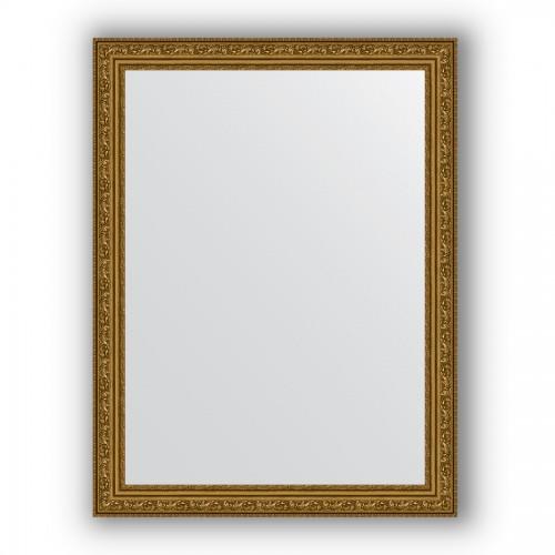 Зеркало в багетной раме - виньетка состаренное золото 56 mm BY 3167