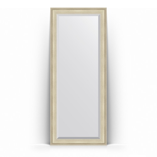 Зеркало напольное с фацетом в багетной раме - травленое серебро 95 mm BY 6123
