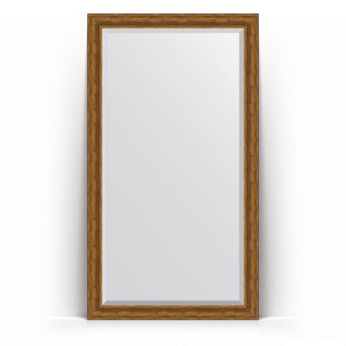 Зеркало напольное с фацетом в багетной раме - травленая бронза 99 mm BY 6169