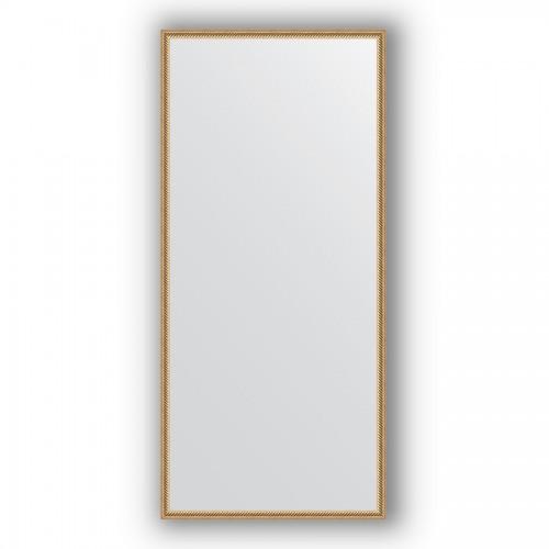 Зеркало в багетной раме - витое золото 28 mm BY 0760