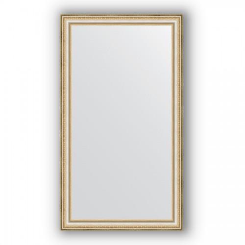 Зеркало в багетной раме - золотые бусы на серебре 60 mm BY 1087