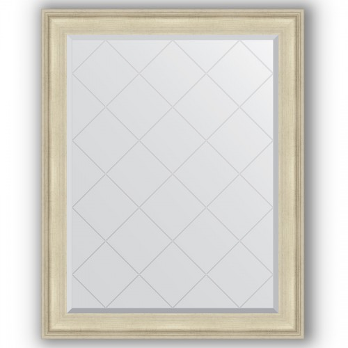 Зеркало с гравировкой в багетной раме - травленое серебро 95 mm BY 4370
