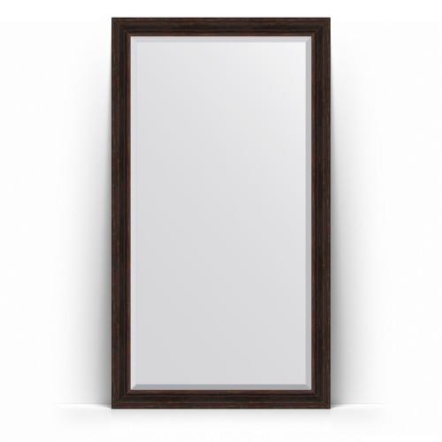 Зеркало напольное с фацетом в багетной раме - темный прованс 99 mm BY 6170