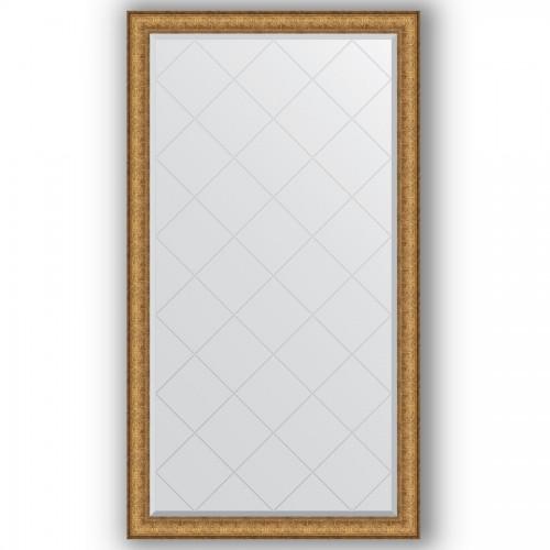 Зеркало с гравировкой в багетной раме - медный эльдорадо 73 mm BY 4395