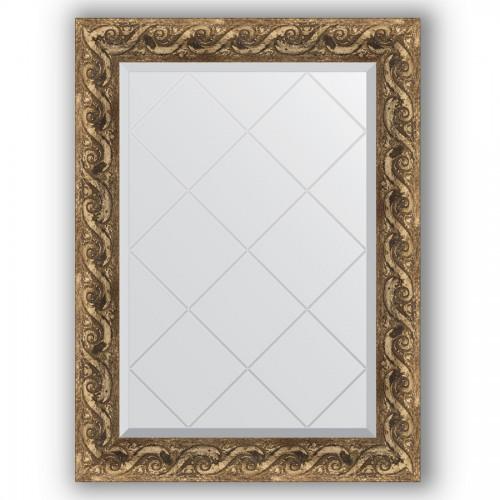 Зеркало с гравировкой в багетной раме - фреска 84 mm BY 4098