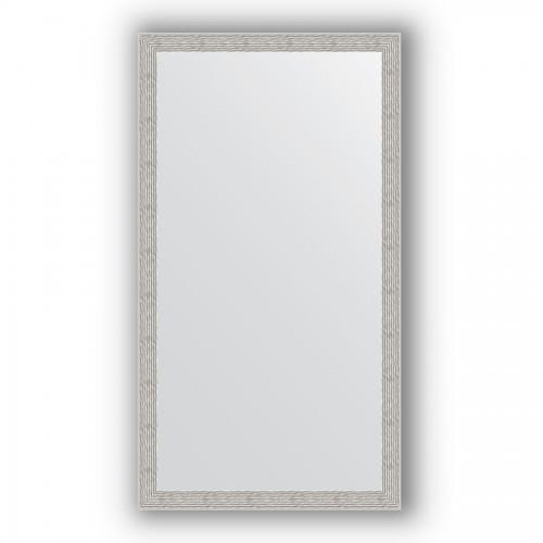 Зеркало в багетной раме - волна алюминий 46 mm BY 3198